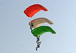 IAF paratroopers at Air Force Day Parade 2012.jpg