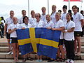 ICF World Dragon Boat Championships 2012 Swedish Senior National Team Women Bronze 2000 Meter.JPG