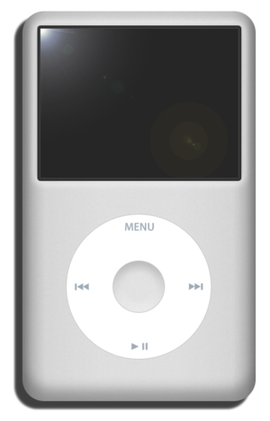 English: iPod classic front view