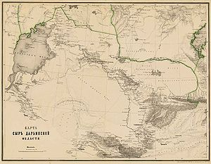 Syr-Darya Oblast - Map of the Syr-Darya Oblast in 1872