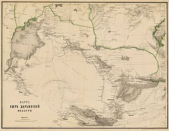 Russian Turkestan - Map of the Syr-Darya Oblast in 1872