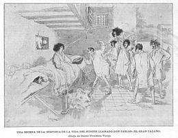Vita del pitocco wikipedia illustrazione di una edizione del romanzo per mano di daniel urrabieta vierge pubblicata nel 1909 sulla rivista la ilustracin artstica fandeluxe Images