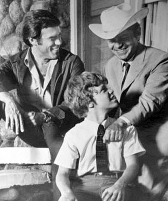 Mitch Vogel - Clockwise from top left: Christopher George, Ross Martin, and Mitch Vogel on TV's The Immortal