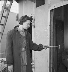 In a British Shipyard- Everyday Life in the Shipbuilding Industry, UK, 1943 DB165.jpg