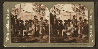 Lac du Flambeau Band of Lake Superior Chippewa - Indian camp on Flambeau reservation