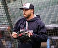 Indians second baseman Jason Kipnis works out before -WorldSeries Game 1. (30275033910).jpg