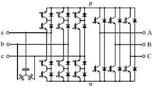 AC/AC converter - Image: Indirect matrix converter