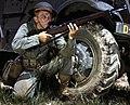 Infantryman in 1942 with M1 Garand, Fort Knox, KY (cropped).jpg