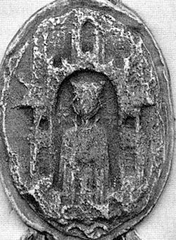 Ingiburga of Sweden (1210s) seal 1905.jpg
