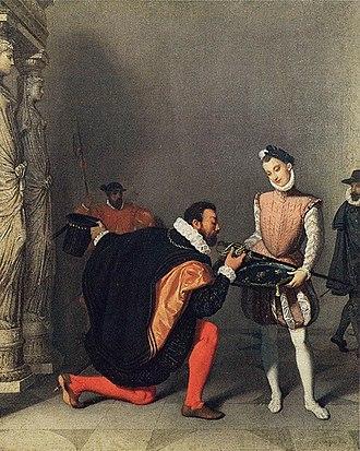 Don Pedro of Toledo Kissing Henry IV's Sword - Don Pedro of Toledo Kissing Henry IV's Sword, 1819 version, château de Pau