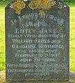 Inscription, grave of Emily Rumming, Brinkworth cemetery - geograph.org.uk - 1209866.jpg