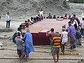 Installation of Experimental floating landing station at Meghai-Jamuna Adarsha ghat, Sirajganj 30.JPG