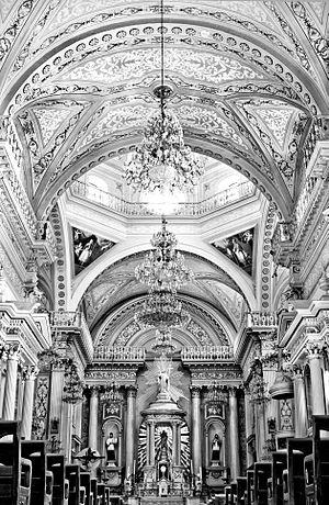 Guanajuato City - Interior of the Basilica Colegiata de Nuestra Señora de Guanajuato