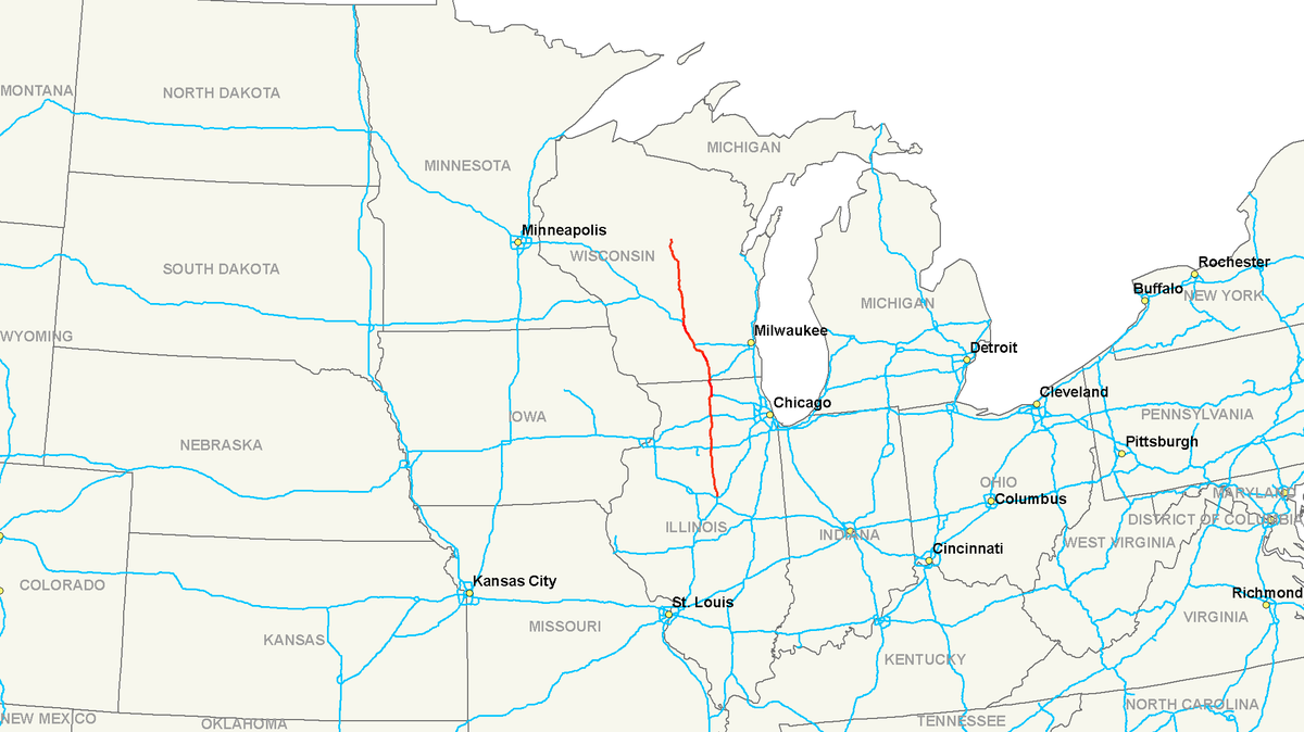 Interstate Wikipedia - Us map with highways and interstates
