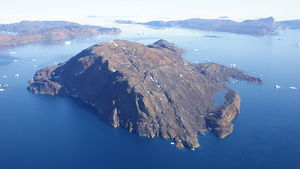 Inussullissuaq Island - Aerial view of Inussullissuaq Island