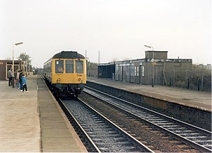 Irlam railway station - Irlam railway station in 1988