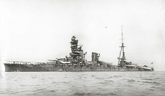 Japanese battleship Ise - Ise at anchor, before her 1935 reconstruction.