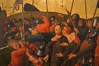 Caspar Isenmann - Image: Isenmann, Colmar Altarpiece (Arrest of Jesus)