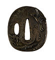 Ishiguro Masayoshi I - Tsuba with a Crane Soaring over Waves - Walters 51156.jpg