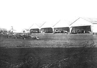 Issoudun Aerodrome - Issoudun Aerodrome - Field 3 with Nieuport 23M, 80 HP single seat (solo) aircraft, 1918.