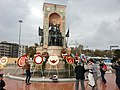 Istanbul, the Monument of the Republic, 10th November Atatürk Remembrance Day.jpg