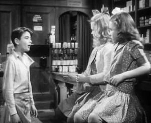 Bobby Anderson (actor) - Bobby Anderson (left) with young Mary and Violet in It's a Wonderful life (1946)