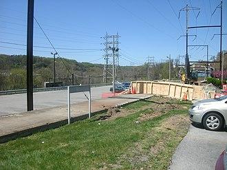 Ivy Ridge station - Demolition of out-of-service station platform, April 8, 2012