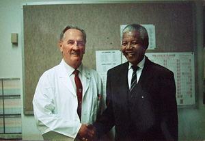 John Brereton Barlow - John Barlow with Nelson Mandela