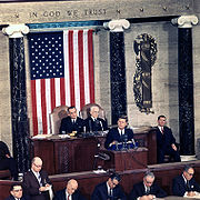 Kennedy during the State of the Union address, 1963.