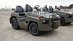 JGSDF 2.5t class aircraft towing tractor(Toyota L&F 2TG25) right front view at Camp Akeno November 4, 2017 01.jpg