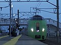 JR Hokkaido 789 on Super Hakucho limited express train service at Kanita Station 20080323.jpg