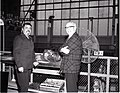 J DOOHAN - ACTOR WHO PLAYED THE ENGINEER ON THE STAR TREK TELEVISION SERIES - DURING VISIT TO THE ELECTRIC PROPULSION LABORATORY EPL WITH JIM BURNETT NASA - NARA - 17466960.jpg