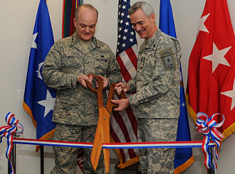 Jack L. Rives - Lt. Gen. Jack L. Rives and Lt. Gen. Scott C. Black perform the ribbon cutting at the Pentagon Army Air Force Legal Assistance Office, Feb 25, 2009.