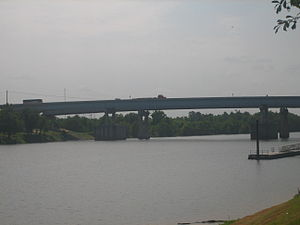 Rapides Parish, Louisiana - Purple Heart Memorial Bridge over the Red River in Alexandria and Pineville