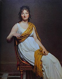 Jacques-Louis David Henriette de Verninac 1799