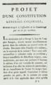 Jacques François Coquille dit Dugommier Projet d'une Constitution générale coloniale, Juillet 1790.png