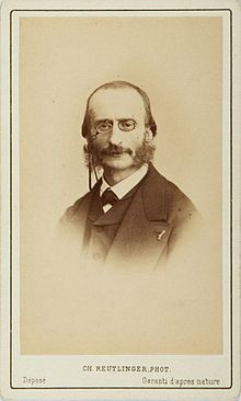 German Born French Composer Jacques Offenbach In An 1871 Carte De Visite By Charles Reutlinger Offenbachs Duet Belle Nuit Damour Beautiful
