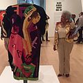 Jae Jarrell examining her work at the Brooklyn Museum.jpg