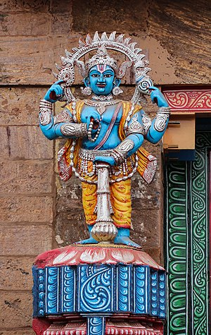 Jaya-Vijaya - Statue of Vijaya at the entrance of the Jagannath Temple, Puri