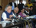Jairam Ramesh addressing the media on Inception Report of Hazard Line Mapping Project and launch of website for Society for Integrated Coastal Management, in New Delhi on December 29, 2010.jpg
