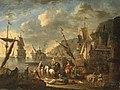 Jan Baptist van der Meiren - Oriental merchants in an imaginary Mediterranean port.jpg