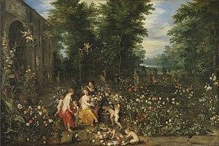 Flora im Blumengarten (und Werkstatt) und Hendrik van Bal