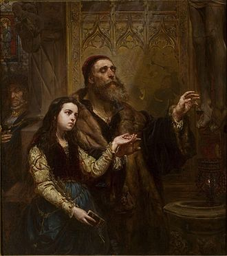 Veit Stoss - Blind Veit Stoss with granddaughter by Jan Matejko (1865), National Museum in Warsaw