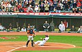 Jason Kipnis sliding into home plate (9944644593).jpg