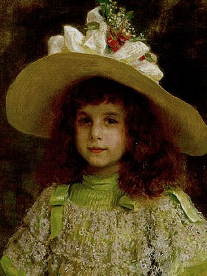 Jean-André Rixens - Image: Jean André Rixens Portrait of a young girl , 1892