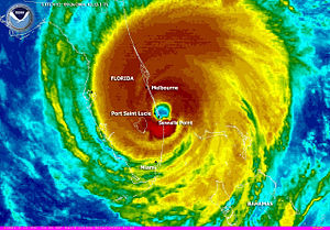 Hurricane Jeanne - Hurricane Jeanne image at time of landfall on the Florida coast