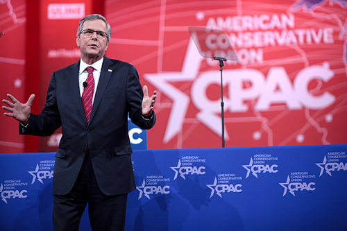Bush speaking at CPAC in Washington D.C., 2015 Jeb Bush by Gage Skidmore 3.jpg