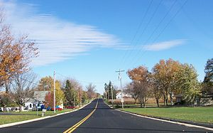 Jericho, Calumet County, Wisconsin - Looking west at Jericho