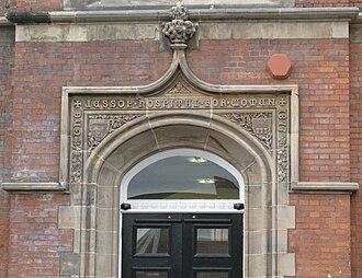 Jessop Hospital - Main Doorway to the original Victorian wing