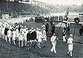 Jeux Olympiques de 1908, l'équipe du Royaume-Uni à la cérémonie d'ouverture.jpg